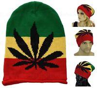 Reggae Jamaica Jamaincan Weeds Marijuana Hippie Cannabis Leaf Rasta Beanie Hat