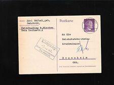 Germany WWII Hitler Postal Card Insurance Information 1942  3p