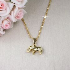 N1 18K Gold Filled Lucky Elephant Necklace & Pendant - Gift boxed