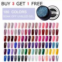 180 Choose LEMOOC UV Gel Polish Nail Art Tips Design Glitter Gel Varnish UV Lamp