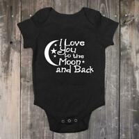 Baby Romper Jumpsuit I LOVE TO THE MOON AND BACK Kids Gifts Nice Bath W3C9