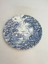 "Vtg Myott Meakin Blue & White 8"" Display Plate Pheasant Shooting Hunting Scene"