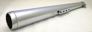 """26"""" Universal Chrome 'Dunstall' Style Replica Motorcycle Silencer"""