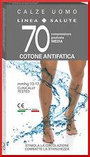 Calze a COMPRESSIONE GRADUATA media lunghe per uomo 70 DENARI DEN in cotone