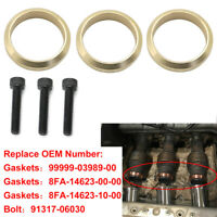 For Yamaha Snowmobile Nytro Vector Replace 99999-03989 Copper Exhaust Gasket 3pc