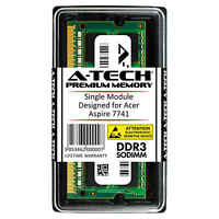 A-Tech 4GB DDR3 1600 MHz PC3-12800 1.35V 2Rx8 Memory RAM for ACER Aspire 7741