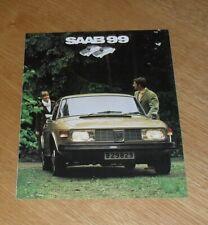 Saab 99 Brochure 1972