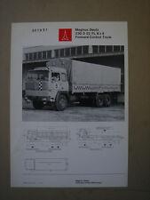 MAGIRUS DEUTZ  230 D 22 FL 6x4  Pritschenwagen  leaflet / brochure / Prospektbla