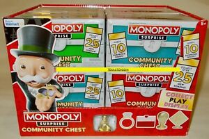 8 MONOPOLY SURPRISE Community Chest BLIND PACKS 25 NEW Tokens Display Box 2021