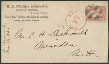 #65 ON U.S. CHRISTIAN COMMISSION COVER NOV. 14,1863 CANCEL BR8810