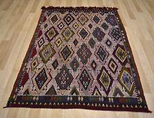 1950 Handmade Anatolian Jijim Konya Turkish  Kilim 4 Ft x 6 Ft  Free Shipping