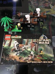 Star Wars Vintage Lego Set 7128 SPEEDER BIKES 100% Complete With Instructions