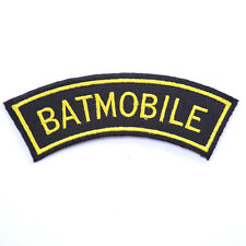 Embroidered iron on sew on Batman applique patches badges for clothes 8 cm
