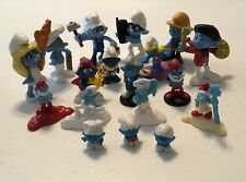 Vintage Lot Of Smurfs Figures PVC Also Includes More Recent