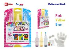 One Step 3 Color Tie Dye Kit - Classic Super Max Vibrant Bright Colour NON-Toxic