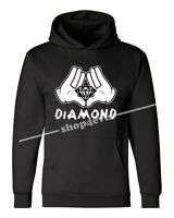 Diamond Cartoon Hands Hoodie Illuminati Cool Graphic Novelty Fun Sweatshirts