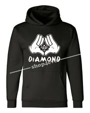 Cartoon Hands Diamond HOODIE illuminati diamond hands Hooded Sweatshirt CIT