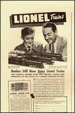 1942 Vintage ad for Lionel Trains/Father and Son in Ad (022113)