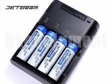 JETBeam i4 Pro Charger 4x 18650 2600 mAh Li-ion Rechargeable Battery+12v Car