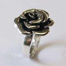 BEAUTIFUL ROSE FLOWER RING 925 STERLING SILVER .US=6.5 UK=M