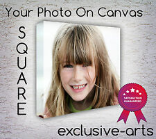 SQUARE PHOTO ON LARGE PERSONALISED  CANVAS PRINT + FRAME DEPTH 30MM / 40MM/ 50M