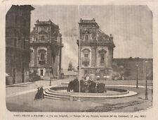 1866 Porta Felice a Palermo xilografia da emporio pittoresco
