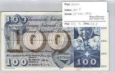 BILLET SUISSE - 100 FRANCS  28-3-1963**