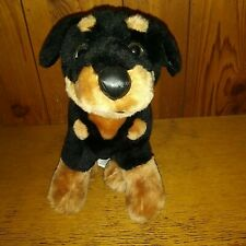 "Cute 9"" Toy Network Doby Doberman Pinscher Pup Puppy Dog 2004 Black Brown Plush"