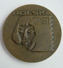 ASTRONOMY COPERNICUS 1973 STAMPS EXHIBITION POLISH POLAND medal