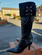 Clark's Ladies Black Leather Mid-Calf Zip Up Boots size UK 5 / 38  EUR