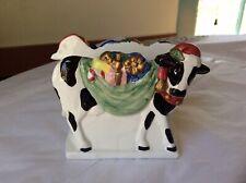 Vintage Otagiri F. Stokes Advantage Collection Christmas Cow Napkin Holder