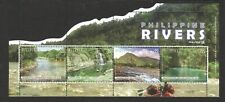 PHILIPPINES 2019 RIVERS ODD SHAPED SOUVENIR SHEET OF 4 STAMPS IN MINT MNH UNUSED