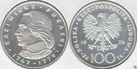 POLONIA - POLSKA. 100 ZLOTYCH DE 1976. PLATA 0.625. (3)