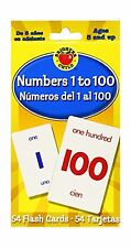 Numbers 1 to 100 Flash Cards: Numeros del 1 al 100 (Brighter Ch... Free Shipping