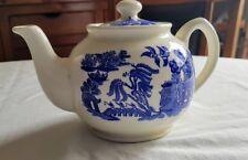Sadler Blue Willow Tea Pot Vintage