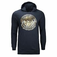 NEW Men Hooded Sweater Tribal Medusa Gold Badge Sparta Logo ALL SIZE Long Sleeve