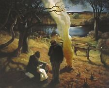 Vintage Art N.C. Wyeth The War Letter 1941 Soldier American Farm Home War