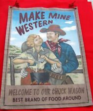 Western Art  MAKE MINE WESTERN, Colorful Art On Canvas