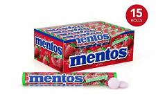 Mentos Chewy Mint - Strawberry 14 Pieces Candy Roll Non Melt ( Pack of 15 )