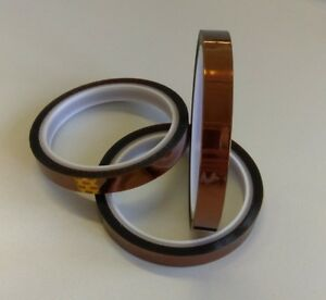 Kapton Tape Heat Resistant Insulating 12mm x 33m 100ft Polymide US Seller 18650