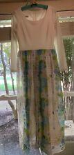 New listing Vintage Miss Elliette Dress Chiffon Long Flowy 60s 70s Size 12