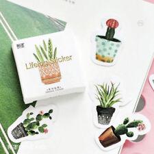 45pcs/set Pot Cultured Green Plants Label Stickers DIY Diary Album Stick Label