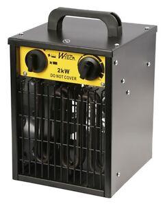 Chauffage d'Atelier 2000W  - WARM TECH - 23.5x22.5x33cm - WTCG2001 - 74196547