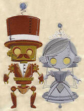 STEAMPUNK WEDDING -- MACHINE EMBROIDERED QUILT BLOCK(AZEB)