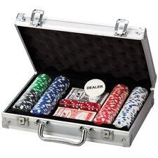 200 PC Casino Poker Game Chips Set  2 Decks 5 Colour Dice + Aluminium Carry Case