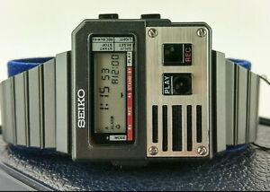 SEIKO M516-4009 VOICE RECORDER Digital LCD GHOSTBUSTERS Alarm Chrono NOS box