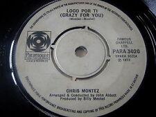 """CHRIS MONTEZ - LOCO POR TI (CRAZY FOR YOU)   7"""" VINYL"""