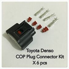 Toyota Denso Yaris Echo Ignition Coil On Plug Connector Kit X 6 (90980-11885)