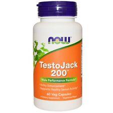 Now Foods TestoJack 200 60 Veg Capsules GMP Quality Assured, Vegan, Vegetarian