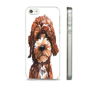 COCKAPOO SKETCH ART DOG BREED WOW PHONE CASE COVER FIT All APPLE IPHONE MODELS